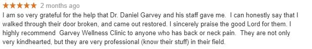 Garvey Wellness Clinic Patient Testimonial